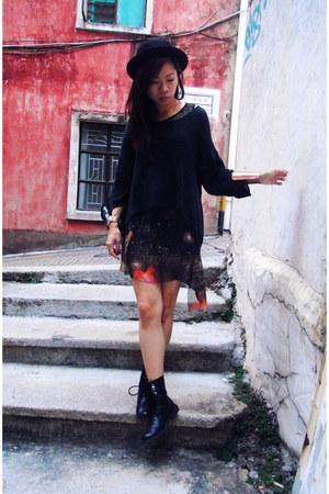 burnt orange galaxy print dress - black Cheap Monday jumper