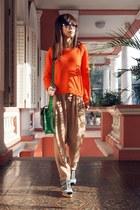 The Cambridge Satchel co bag - Monki socks - H&M pants - Monki blouse - H&M sand