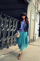 American Apparel top - Zara boots - Forever 21 bag - Zara belt