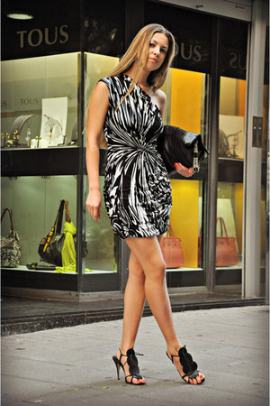 black Emilio Pucci dress - Anya Hindmarch bag - vivienne westwood heels