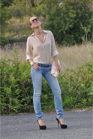 calvin klein jeans jeans - LK Bennett bag - Missoni pumps - silk Valentino Trico