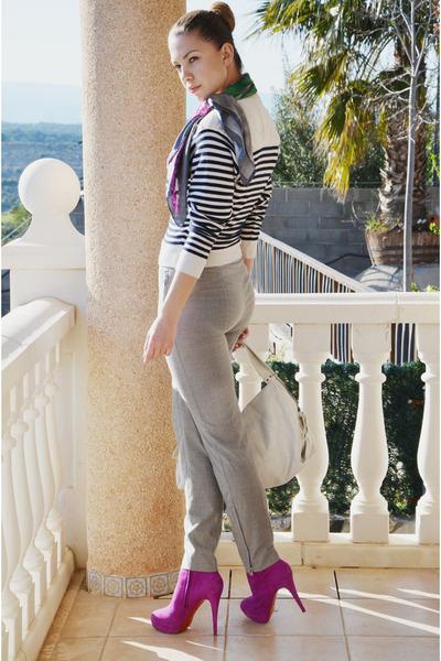 Christian Louboutin boots - Kaufman Franco pants - Nina Ricci cardigan