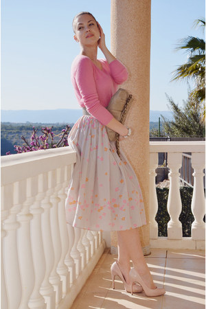 light pink Jackpot skirt - bubble gum Dear Cashmere sweater