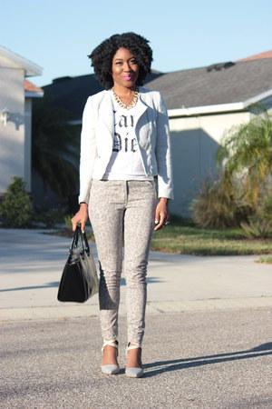 animal print H&M jeans