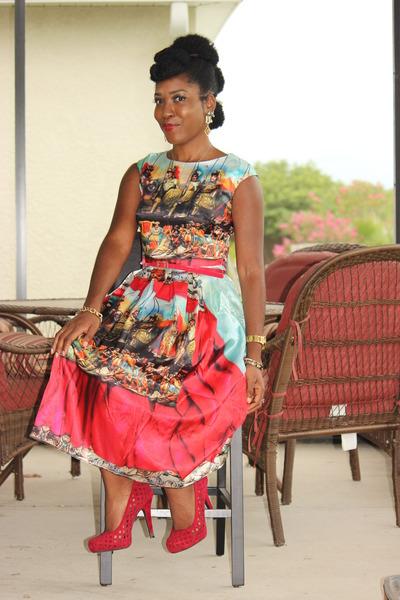 baroque Sheinside dress