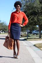 Jcrew blouse - Jcrew skirt