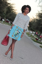 Fashion Friday:Crew Neck Sweater and Baroque Dress