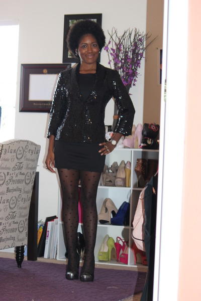 cotton dress daily look dress - sequin new york and co blazer