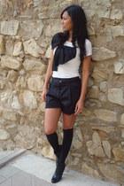 Mango shirt - Moncler shorts - H&M boots - Calzedonia socks