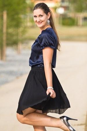 black asos skirt - silver Michael Kors pumps