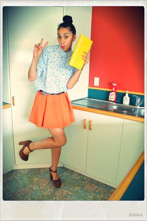 sky blue Karen Walker shirt - yellow After The Apple for Karen Walker bag