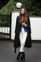 blue Sammydresscom blazer - MartofChinacom boots - long Sheinsidecom coat