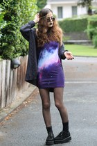 galaxy print solilorcom dress