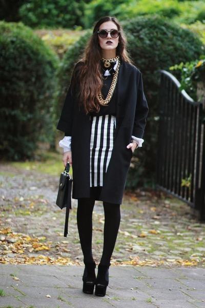 concave heel shelikescom shoes - striped pencil choiescom skirt