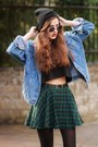 Shoes-denim-jacket-plaid-chicwishcom-skirt