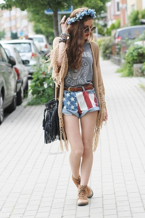 usa flag print Sheinsidecom shorts