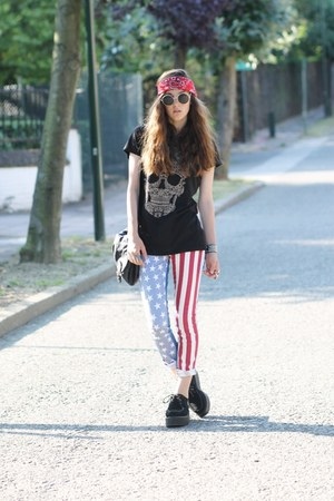 usa flag print Oasapcom pants