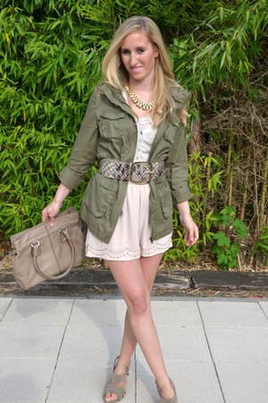 H&M blazer - TODs bag - H&M shorts