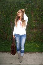 joe jeans jeans - Steve Madden boots - Forever 21 shirt - Aldo bag
