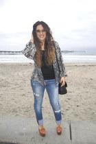 furor moda cardigan - joe jeans jeans - H&M shirt - Gucci sunglasses