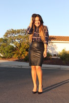 Forever 21 skirt - Forever 21 blouse - Christian Louboutin pumps