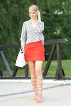 Michael Kors bag - Zara sandals - Topshop skirt