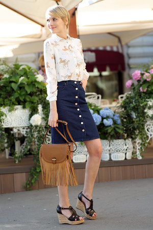 Topshop bag - Zara blouse