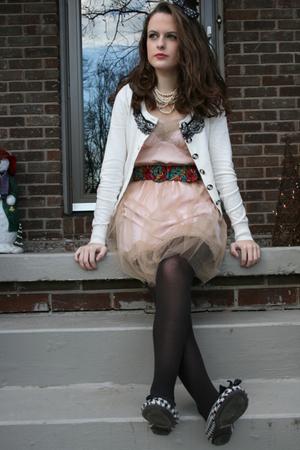 beige Rodarte for Target dress - white Forever 21 cardigan - white American Eagl