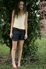 Hair-clip-j-crew-hat-forever-21-shorts-leather-vintage-belt