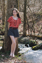 polka dot Sugarlips top - polka dot LC by Lauren Conrad shorts