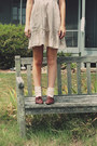 Dark-brown-oxford-vintage-flats-eggshell-floral-mossimo-supply-co-dress