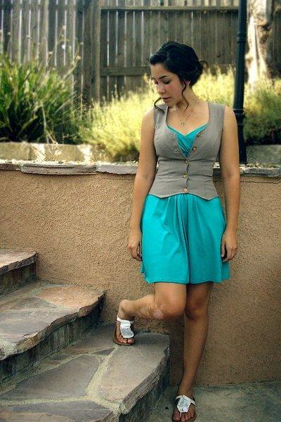 Forever21 dress - vest - Simply Vera Vera Wang shoes
