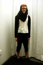 scarf - American Apparel t-shirt - pants