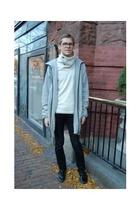 Topman jacket - B Son sweater - Rubber Duck shoes