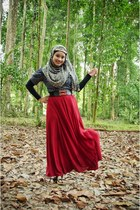 brick red its costumize DaLzButtOnCraft skirt - black no brand shirt