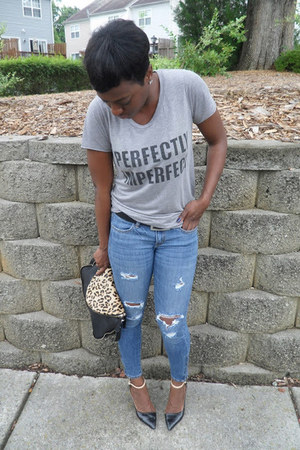American Eagle jeans - heather gray Forever21 t-shirt