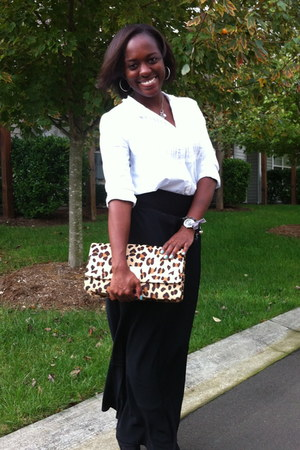 Express skirt - leopard clutch Express bag - Gap top
