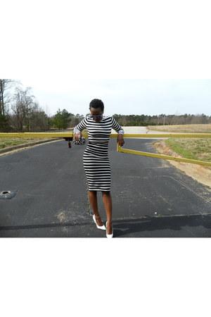 black crop top Forever 21 top - white midi skirt Express skirt