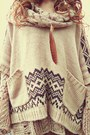 Heather-gray-romwe-skirt-off-white-durango-boots-beige-free-people-sweater