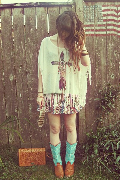Urban Outfitters shirt - Charlotte Russe boots - vintage bag