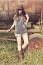 Durango-boots-romwe-shirt-angel-court-bracelet-romwe-vest