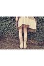 Tan-club-couture-dress-beige-durango-boots-brown-macys-sweater