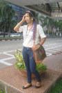 Kamiseta-jeans-celine-vintage-bag-cotton-on-flats-zara-button-down-top