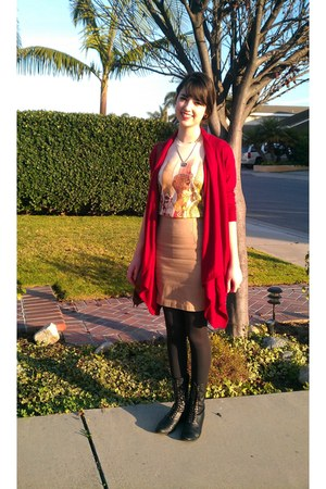 brick red cashmere Victorias Secret sweater