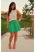 green Stradivarius skirt