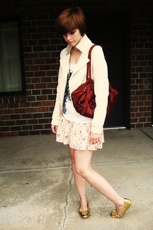 Express jacket - forever 21 t-shirt - nolita skirt - loeffler randall for target