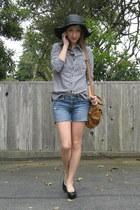 black sale Rite Aid hat - bronze Urban Outfitters bag - blue cut-offs Express sh