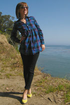 blue New York & Co blouse - black Wet Seal jeans - yellow Target shoes