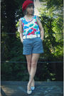 White-self-made-top-blue-thrifted-from-crossroads-shorts-white-target-shoes-