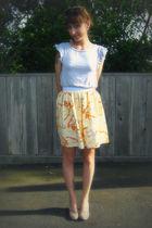 beige Steve Madden shoes - yellow Self Made skirt